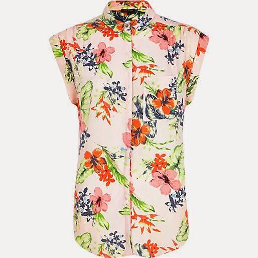 river island flower shirt