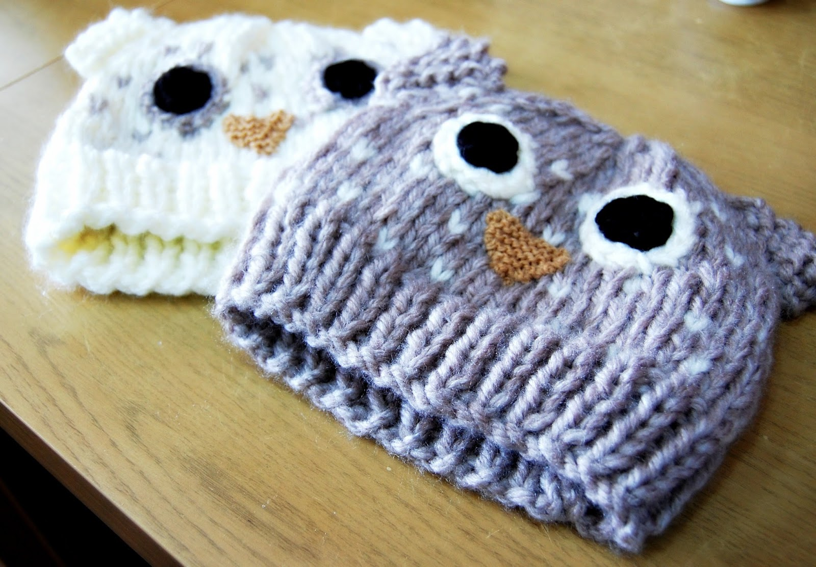 Free Knitting Patterns For Baby Owl Hats : the geeky knitter: owl hat - free knitting pattern