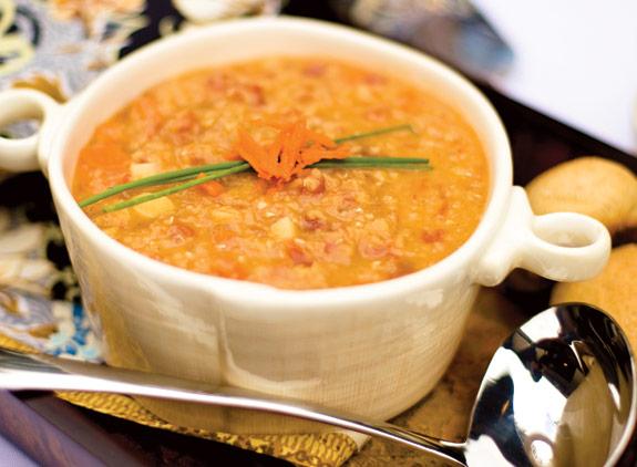 Zöldséges piroslencse leves / Red Lentil Soup