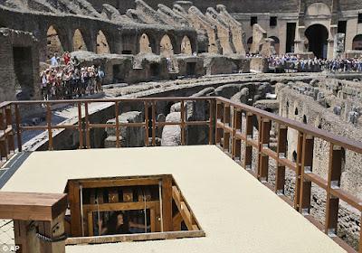 Ο ανελκυστήρας των λιονταριών αποκαταστάθηκε στο Κολοσσαίο