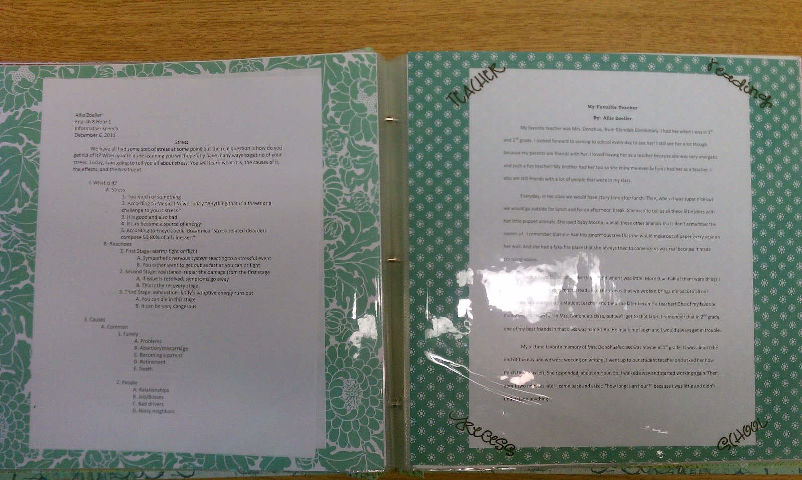 mrs  mcdermott u0026 39 s 8th grade english  my life    a portfolio
