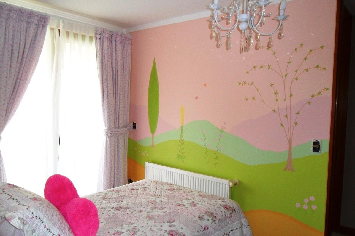 Murales infantiles mural infantil rboles y monta as for Murales infantiles nina