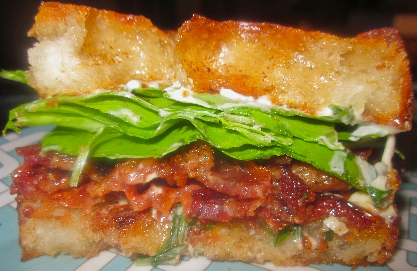 Haute + Heirloom: Slow Roasted BLT Sandwiches with Fried Bread & Basil ...