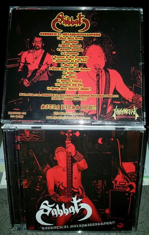 """SABBAT''live in malaysia""""(31st may 2014)-LIMITED 500!"""
