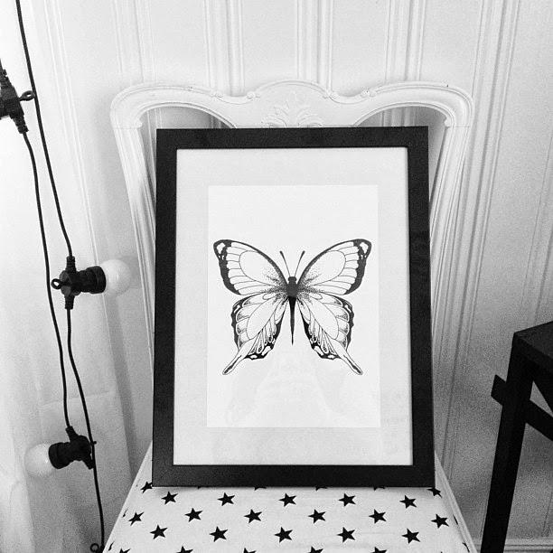 Art print fjäril, fjäril print, fjärils tavla, grafiska tavlor, illustration, illustrationer, konst, art, artwork, inredningsblogg