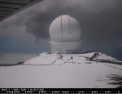 Canada-France-Hawaii Telescope on Mauna Kea, June 5, 2011