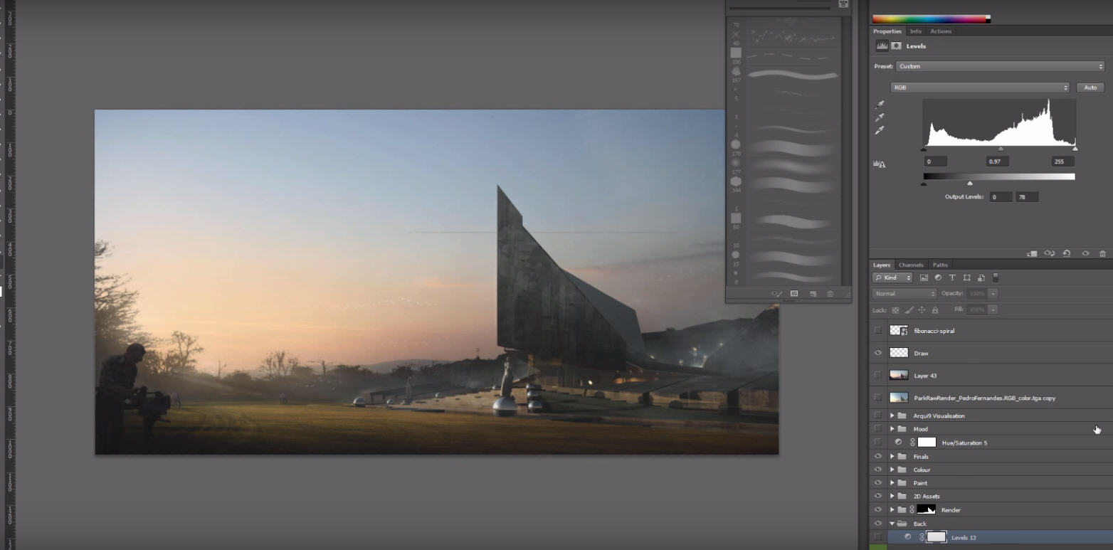 Architectural Post Production Tutorial Changing Lighting