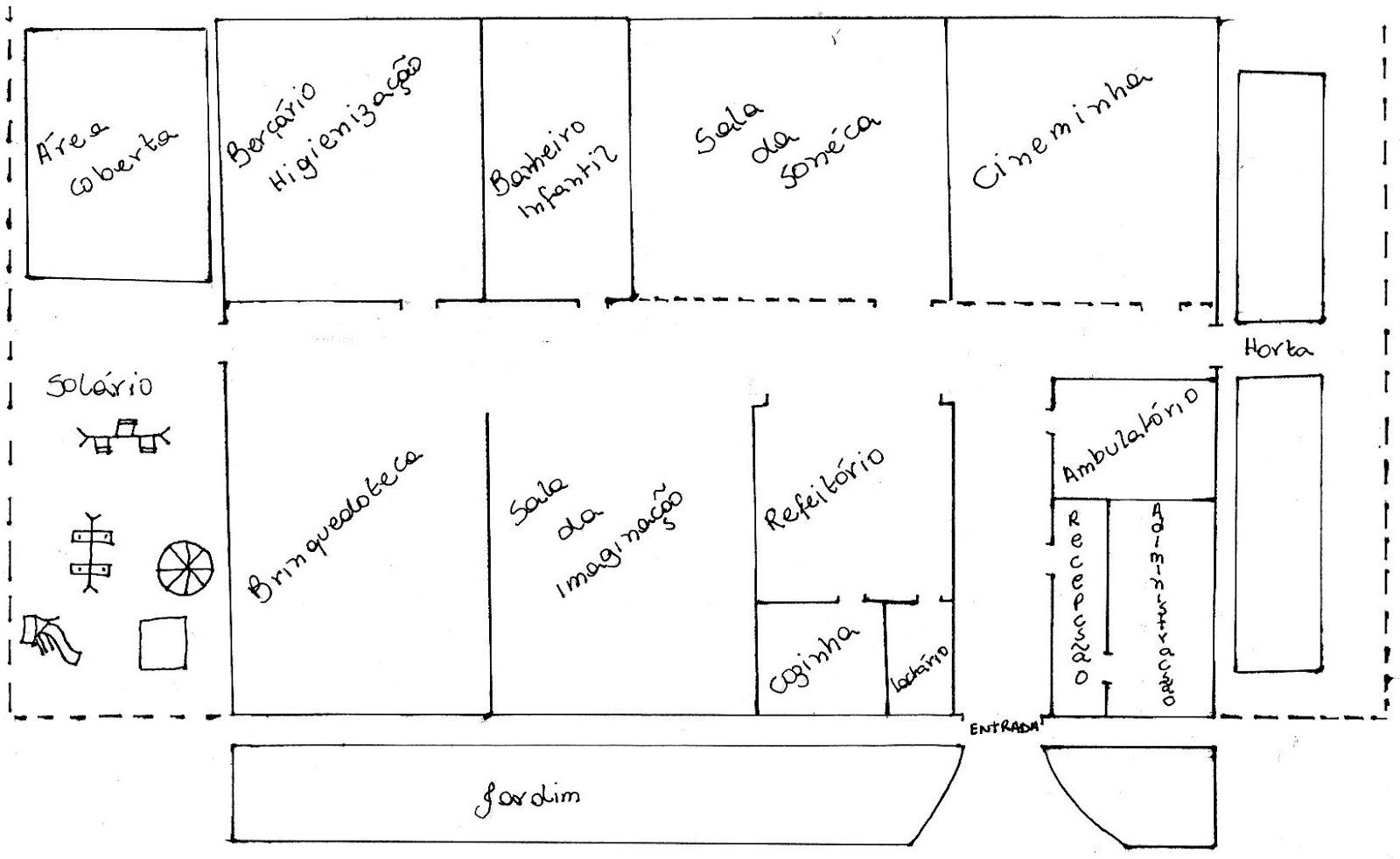 3º Passo Desenhar uma planta baixa da E scola D os S onhos com  #3C3C3C 1600 982