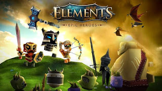Screenshots of the Elements: Epic Heroes for Android tablet, phone.
