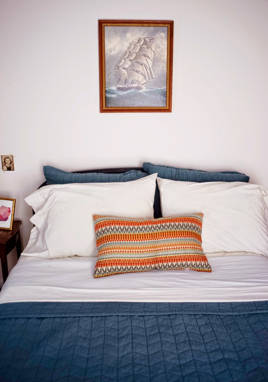 Guest Room Blue Bedding