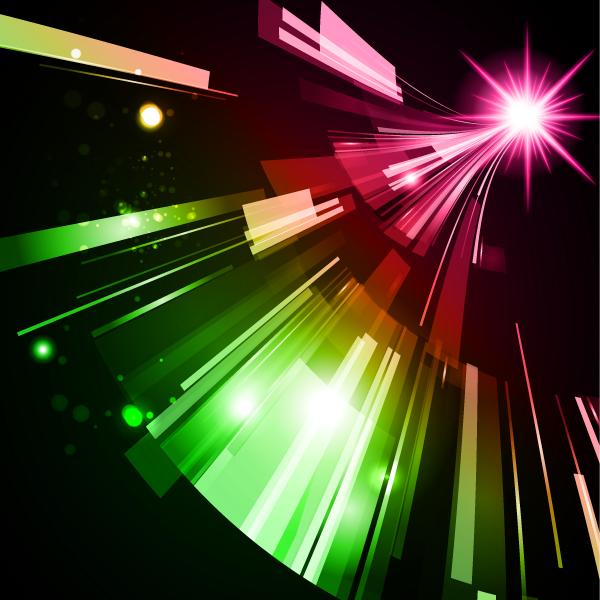 Imágenes de diseño luminoso sobre fondo oscuro f