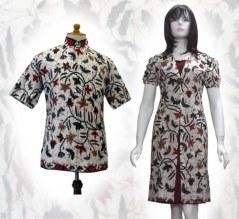a91 Model baju batik wanita pria couple sarimbit anak modern terbaru