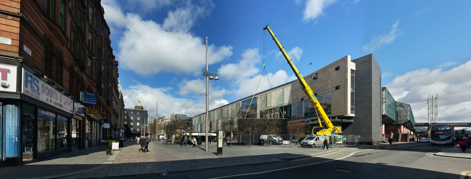 St Enoch, TV install, Glasgow