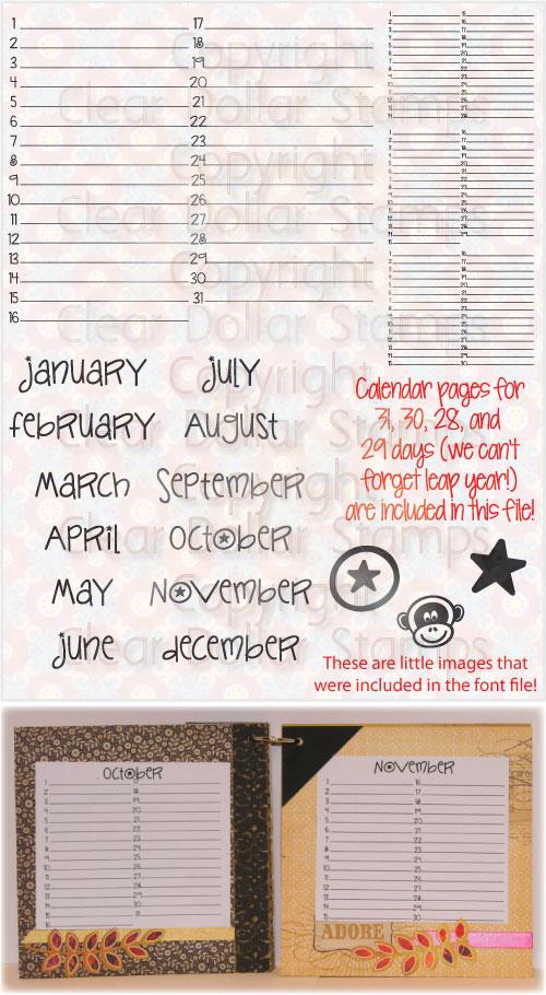 Sample Birthday Calendar  KakTakTk