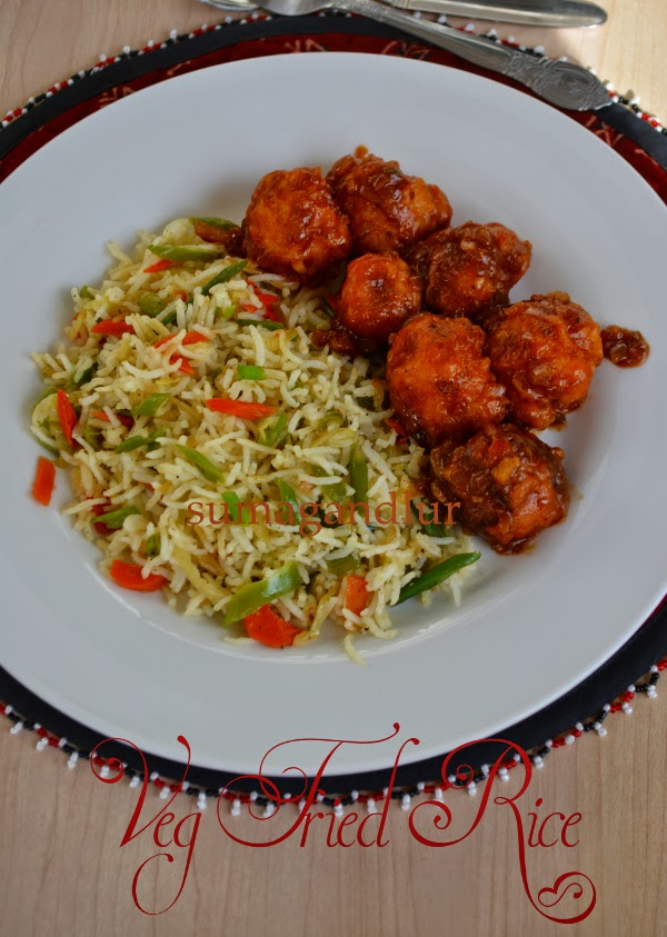 Indian Chinese Cooking ~ Vegetable Fried Rice