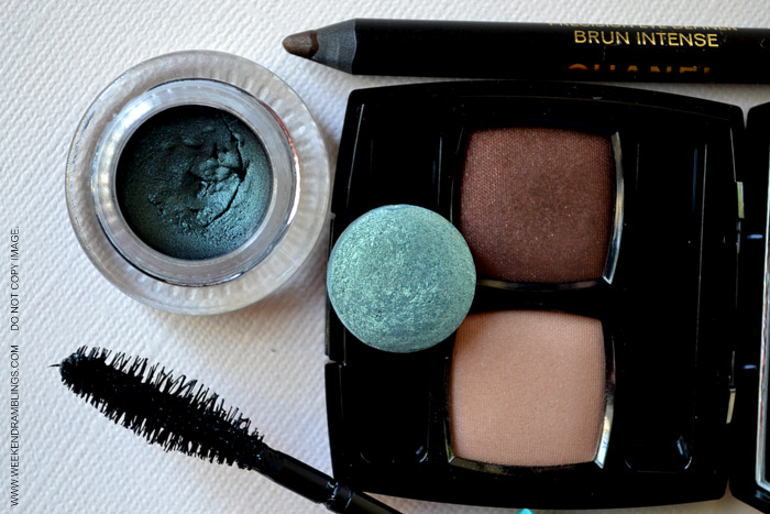FOTD Brown Green Teal Smoky Eye Makeup Fall Trends Indian Beauty Blog