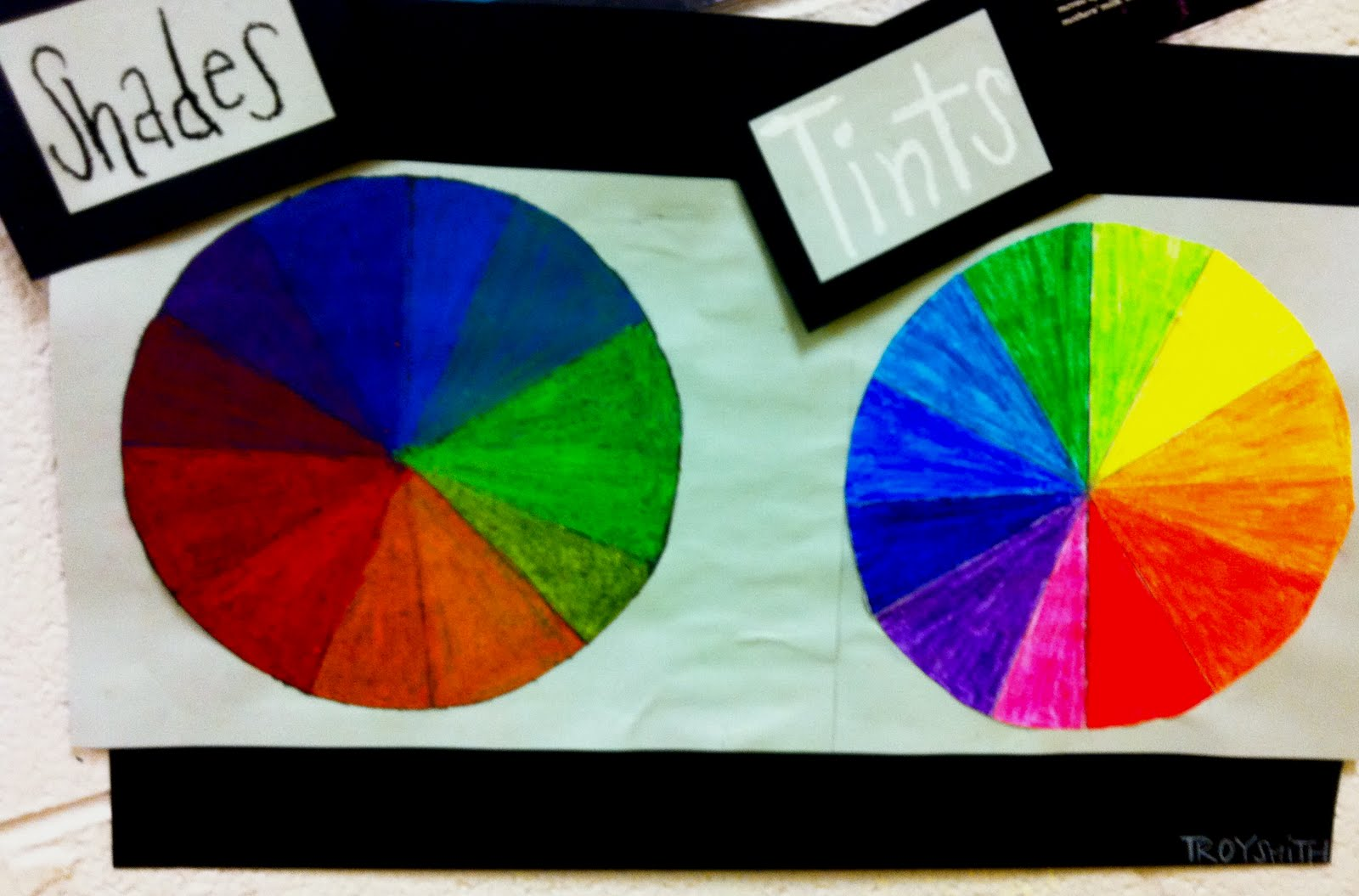 Kirby middle visual art 6th and 7th grade - Show color wheel ...