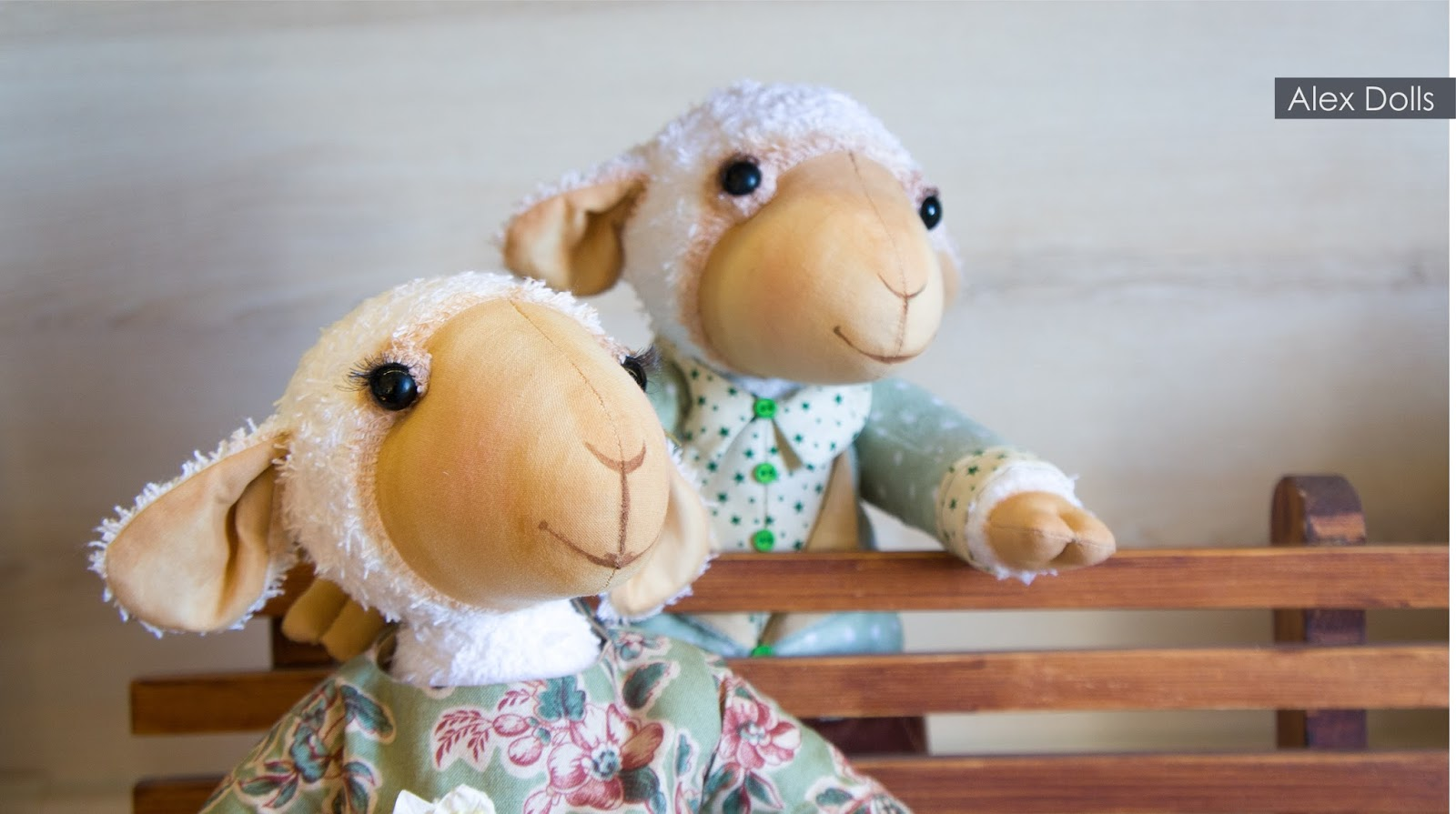 ручная работа, текстильная овечка, из ткани, handmade, alexdolls