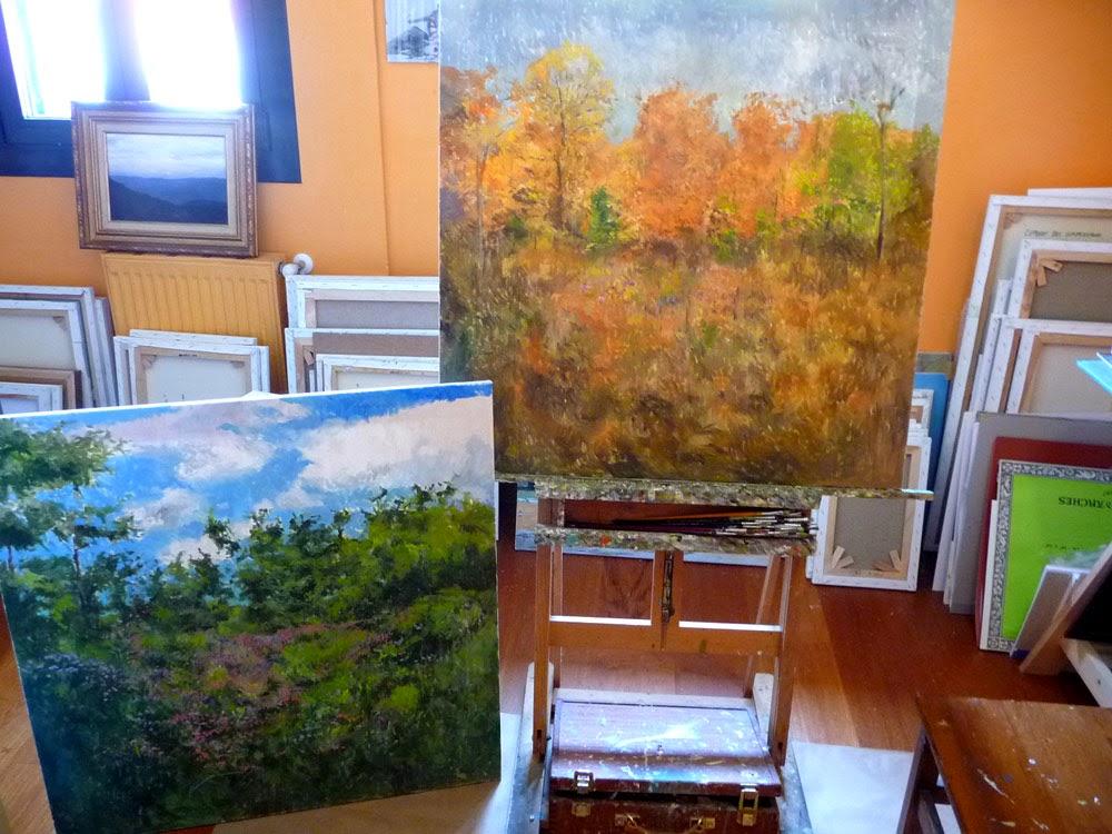 Segunda fase de la realización de estos dos cuadros
