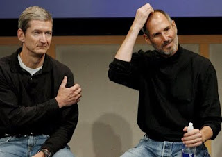 apple ceo steve jobs & tim cook