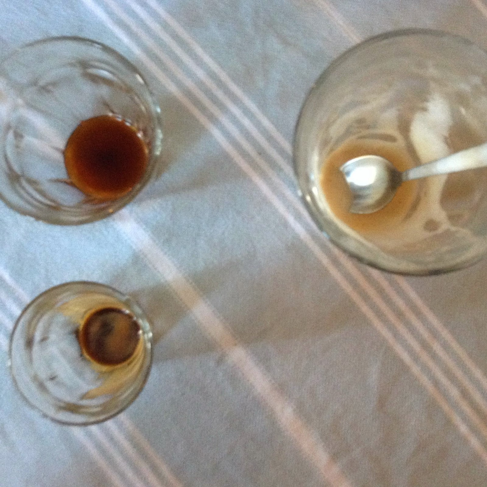 Empty coffee glasses