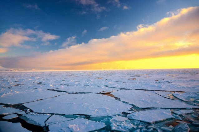 Cracked Arctic ice (Credit: Shutterstock) Click to Enlarge.