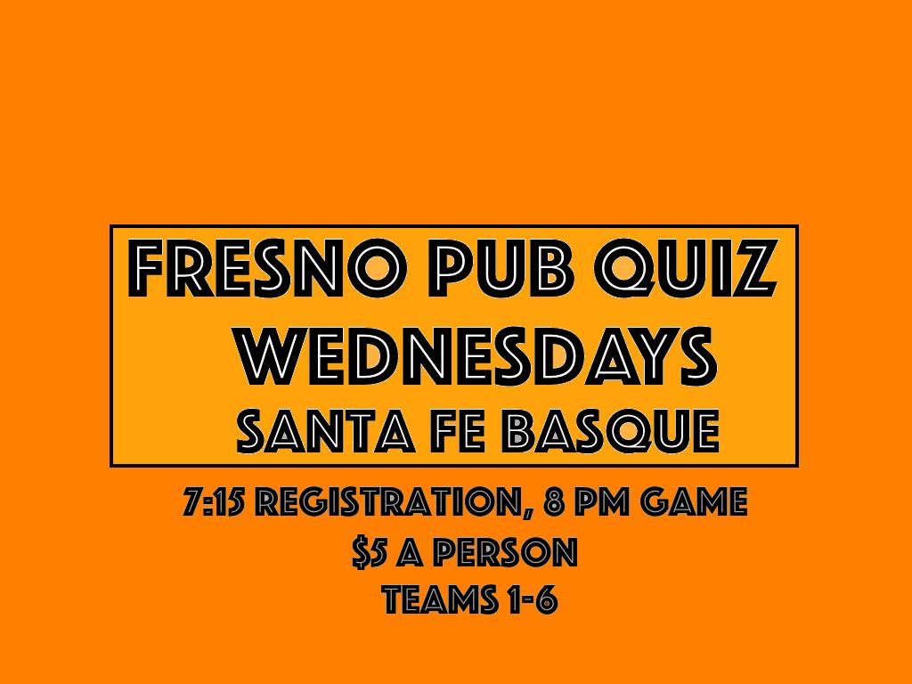 Fresno Pub Quiz