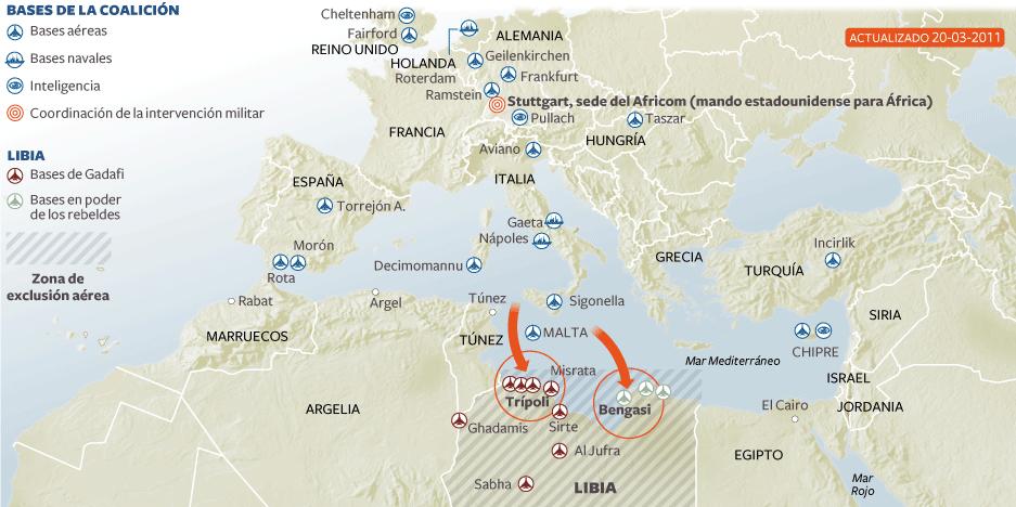 Mapa Guerra Libia
