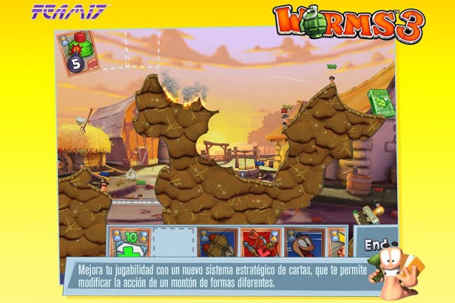 Worms 3 llega a Android