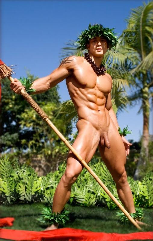 Gay hawaiian man