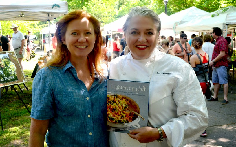 Angie Mosier, Chef Virginia Willis | Grant Park Farmers Market