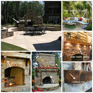 outdoor-stone-fireplace, fireplace-rustic-mantle