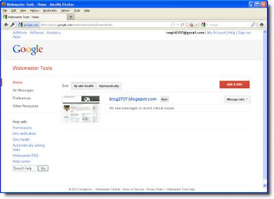 Daftar Situs/Blog yang terdaftar di Google Webmaster