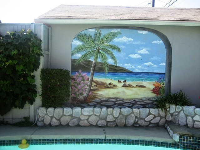 Hand painted wall mural designs for Mural painting ideas