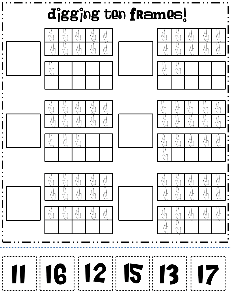 Ten Frame Addition Worksheets furthermore Ten Frame Math Worksheets ...