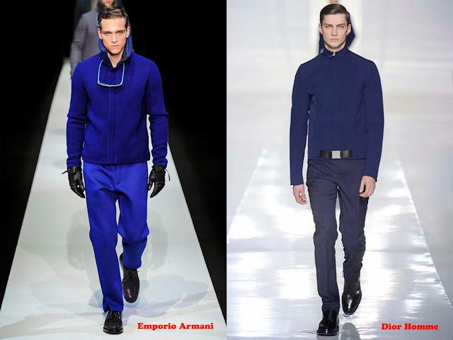 Tendencia otoño_invierno 2013-14 color azul: Emporio Armani y Dior Homme