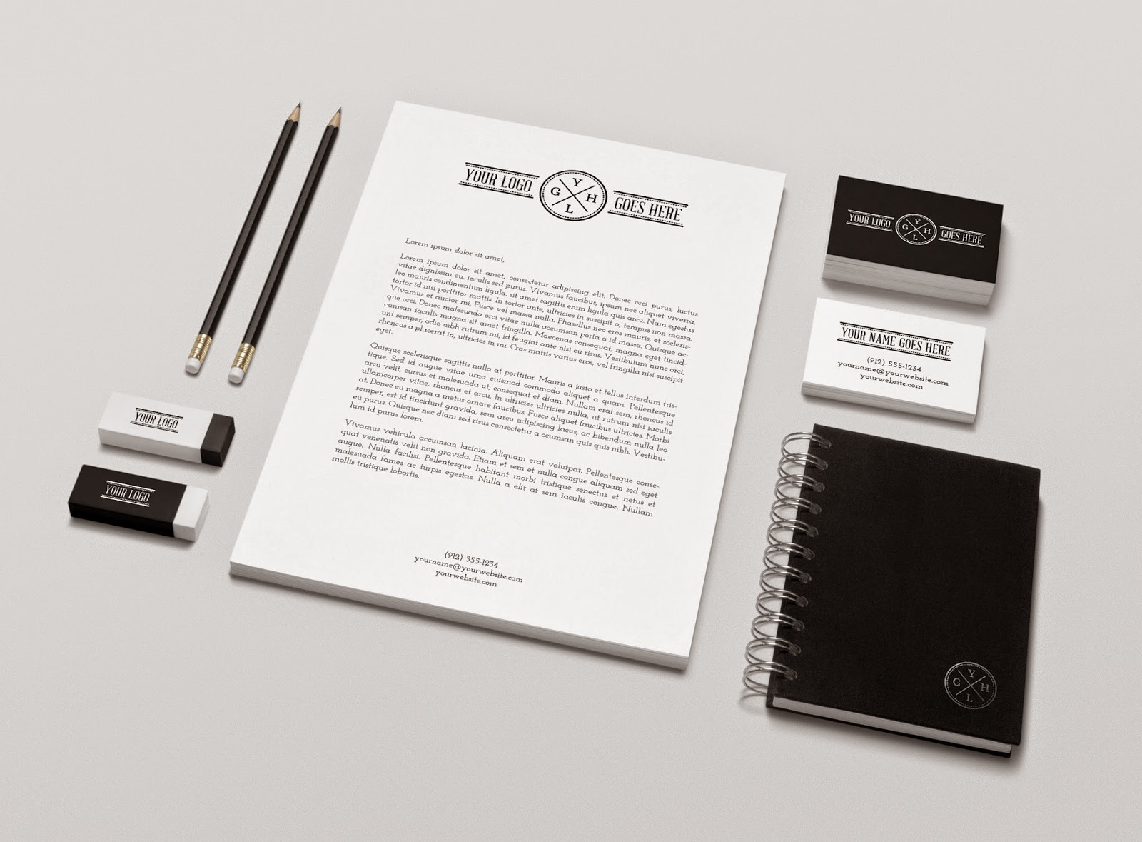 Teachers 40 Best Free Brand Identity Stationery Psd Mockups