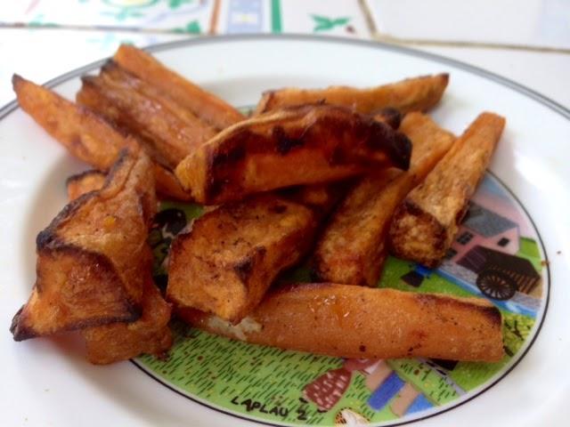 Claire au matcha les frites de patates douces au four encore plus croustillantes - Frite de patate douce au four ...