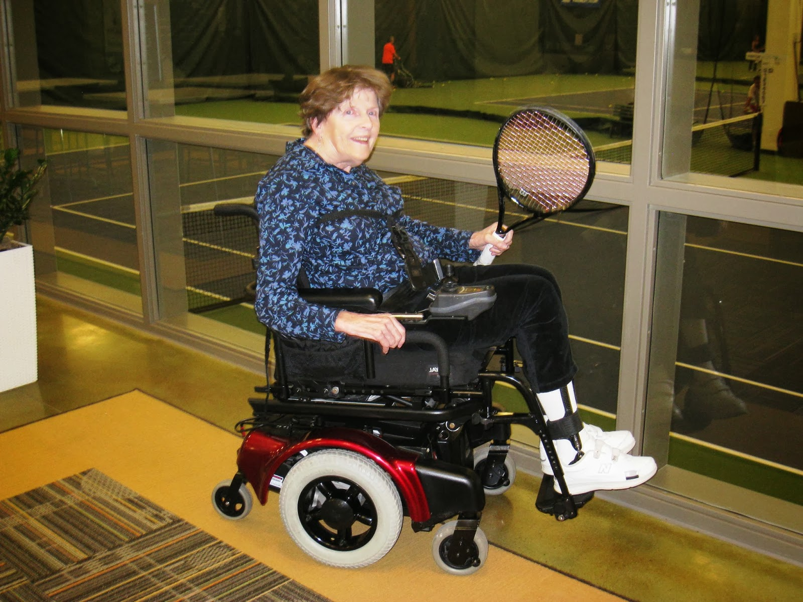 Wheelchair tennis with Madeline Smith anyone?