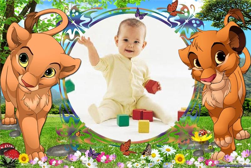 Fotomontajes Infantiles - El rey león | Fotomontajes Infantiles