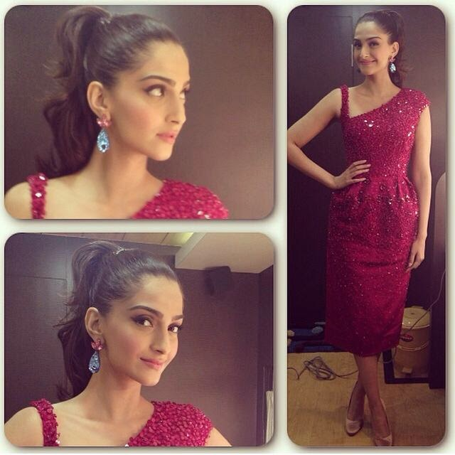 Sonam Kapoor looking  gorgeous on the sets of Zee Cine Star Ki Khooj