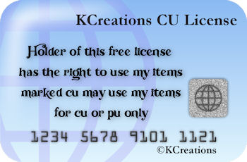 KCreations CU License