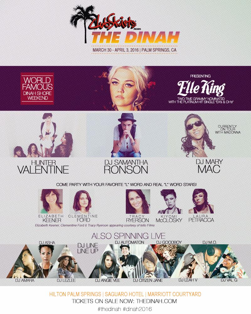 DJ Mary Mac Added to The Dinah 2016 in Palm Springs