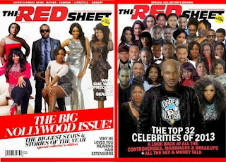 Redsheet Magazine December Issue Feat. all the Celebrities Nigeria Can offer Lol.