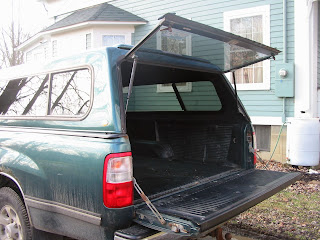 homemade truck bed cargo net