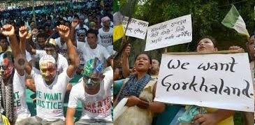 Gorkhaland & Kamtapur movements