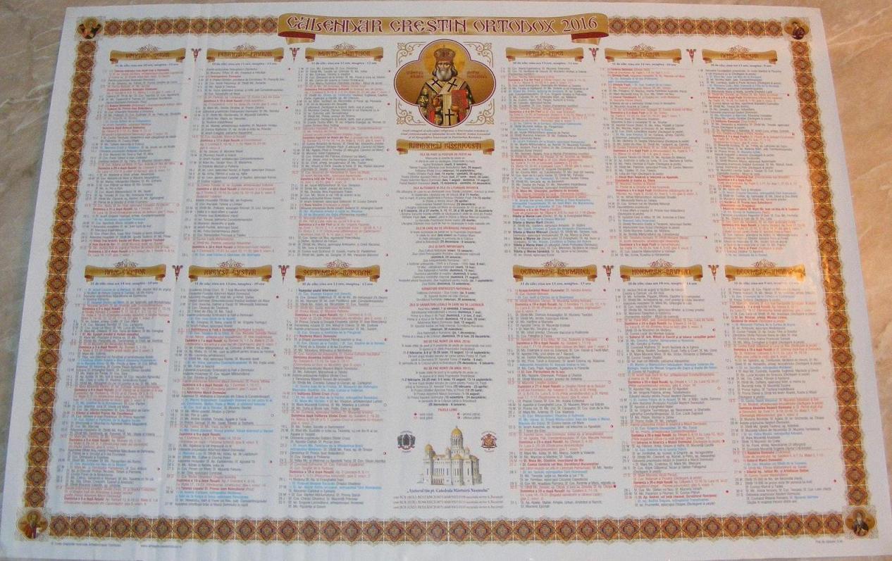 calendar ortodox 2016 cand se fac nunti