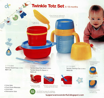 TWINKLE TUP TUPPERWARE SET ANAK
