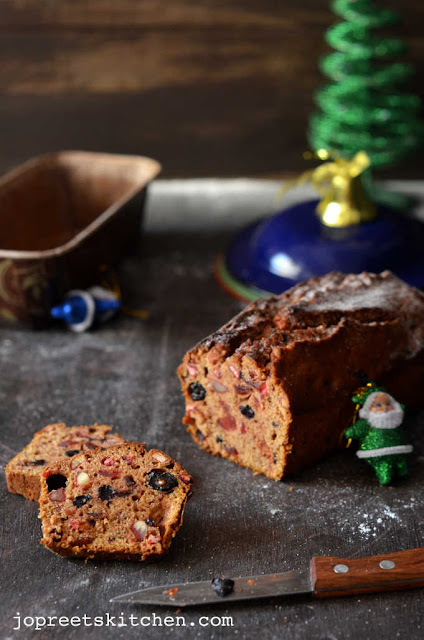 Christmas Fruit and Rum Cake / Plum Cake / Bacardi Rum Soaked Fruit Cake