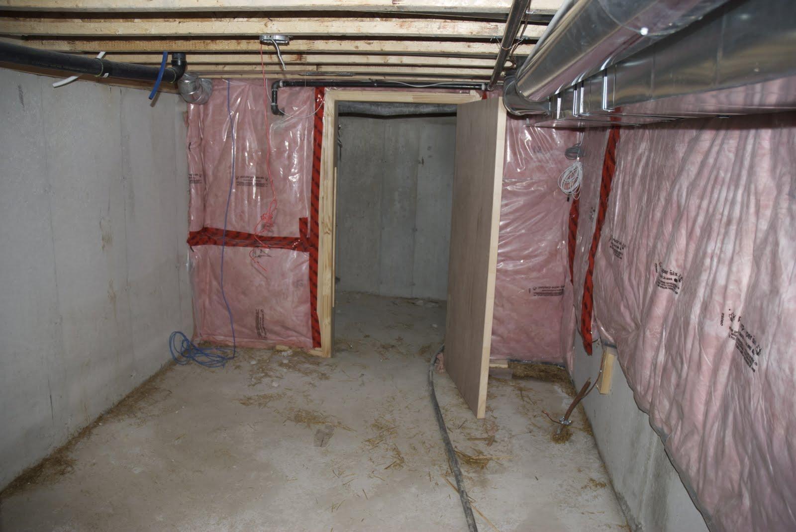 houseonashoestring unfinished basement decorating. Black Bedroom Furniture Sets. Home Design Ideas